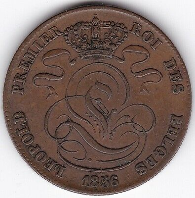 1856 Belgium 5 Centimes***Collectors***Copper***