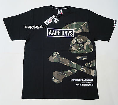 1951d20f A BATHING APE Men's - AAPE PRT ARMY TEE SIDE BONE T-Shirt 2 colors ...
