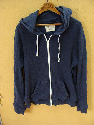 The Men's Store Bloomingdale's Men's Blue Full Zip Hooded Jacket Size L Large