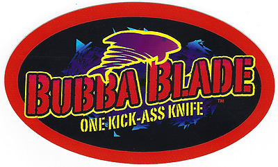 Bubba Blade Fishing Decal Sticker 6 Inches Long Size New