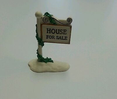 "Department 56 ""For Sale Sign"" Retired 56.51080 Original Snow Village"