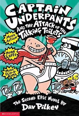 Reading Children Book Captain Underpants and the Attack of the Talking Toilets