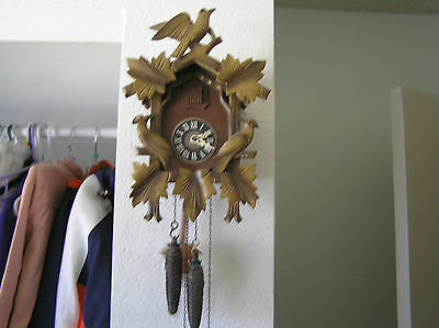 Vintage Regula  Cuckoo Clock Made In West Germany, Weights And Pendulum
