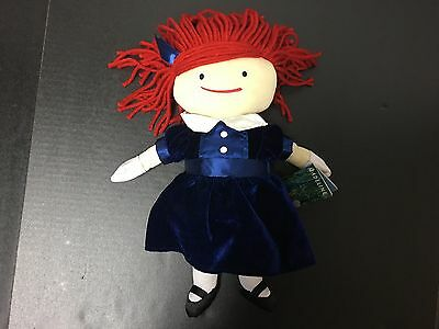 Yottoy Collection 14 Inch Plush Madeline Doll Velvet Dress New With Tags