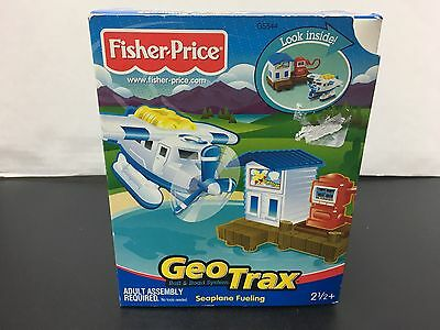 Fisher Price Geotrax Seaplane Fueling Set New Sealed