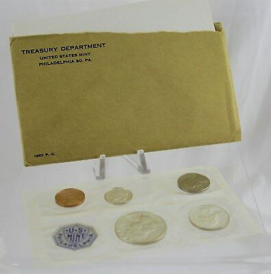 1957-P US Mint Coin Proof Set in Cellophane w/ Treasury Envelope