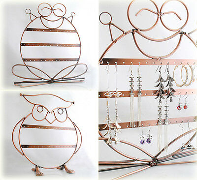 Frog/Owl 3 Layers Fashion Metal Earring Jewelry Holder Rack Stand Shelves JS004