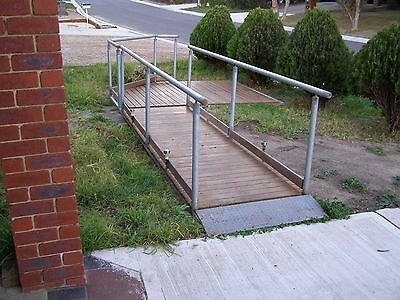 Wheel chair access ramp and platform