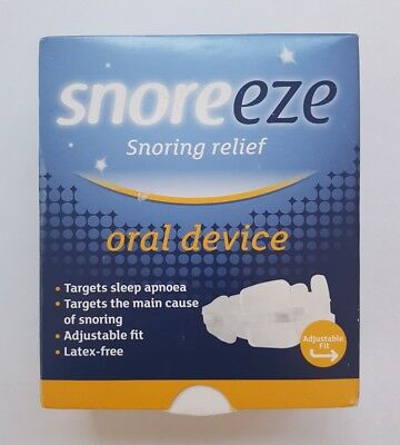 Snoreeze Snoring Relief Oral Device- Fits All Mouths Latex Free + Targets Apnoea