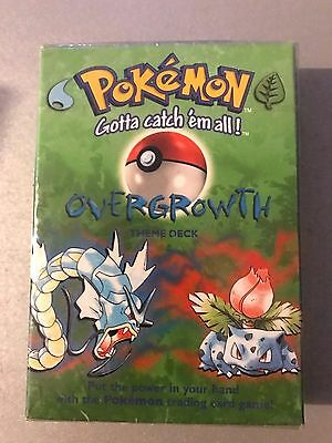Rare Pokemon Base Set OVERGROWTH Theme Deck New Factory Sealed WOC 1999