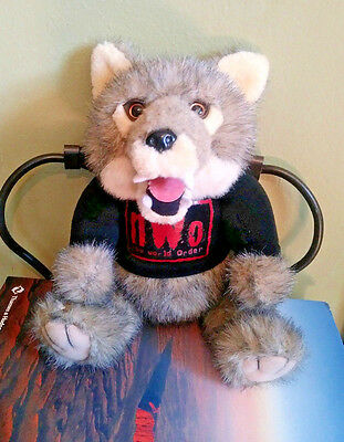 NEW WORLD ORDER WRESTLING WOLF PACK SITTING WOLF PLUSH TOY 10 Inches