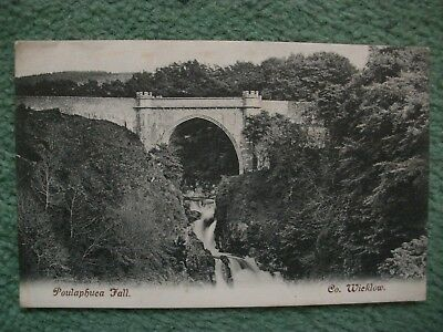 Poulaphuea Fall,Co.Wicklow,postcard.