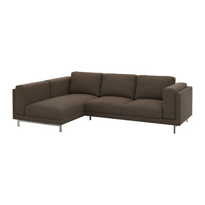 Ikea Nockeby REPLACEMENT COVER 2 seat sofa L/h chaise Teno Brown 402.838.32