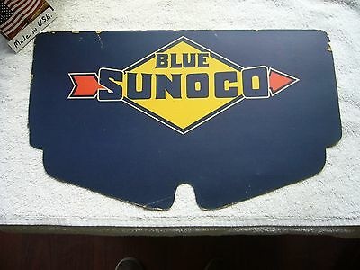 Super Rare Vintage SUNOCO Motor Oil 2 Sided  Sign Winter Radiator Cover