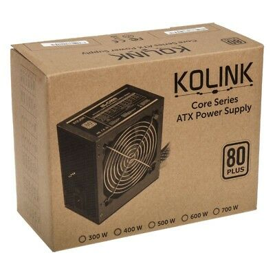 Kolink Core Series KL-C400 400W 80 Plus Certified PSU ATX PC Power Supply Unit