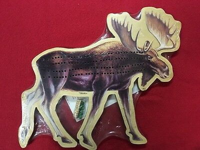 Wooden Moose Cribbage Board by Saber-Tooth Company  NEW!
