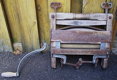 Antique Vintage Anchor Brand Clothes Wringer Lovell Manufacturing Erie PA Rustic