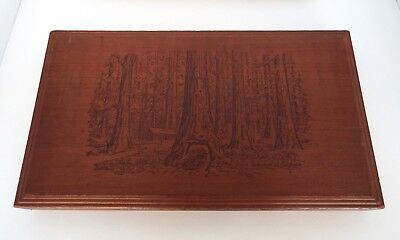 Giant California Redwoods Dove Tail Wood Box Vintage Sterling Sun Dried Fruit