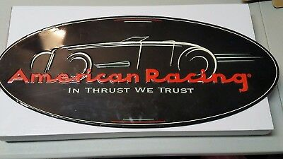 "Vintage Style AMERICAN RACING Wheels metal sign 24"" wide hot rat rod nascar nhra"
