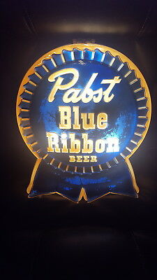 Pabst Blue Ribbon Beer Vintage Light-Up Sign