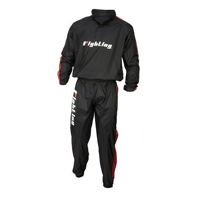 Fighting Sports Renew Hooded Sauna Suit - Black/Red