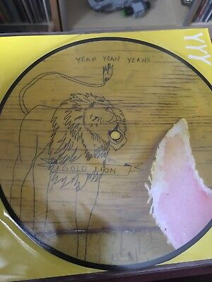 """Yeah Yeah Yeahs : Gold Lion 7"""" Vinyl Single Picture Disc New"""