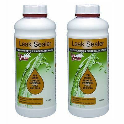 2x Lo-Chlor Leak Sealer - Swimming Pool Plumbing Sealant