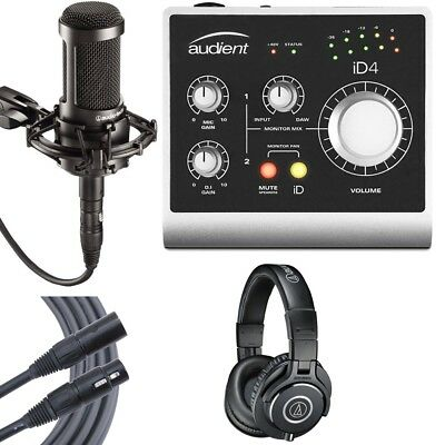 Audient ID4 High Performance USB Audio Interface Essential Studio Kit