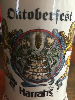Harrahs Octoberfest Hotel & Casino Ceramic Beer Mug Stein Heavy Looks New