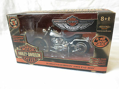 Harley / Ertl 100th Ann. Fatboy Die Cast Replica Grey/Blk, 1:18 Scale, 36939