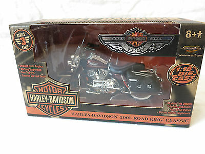 Harley / Ertl 100th Ann. Road King Die Cast Replica Red, 1:18 Scale, 36939