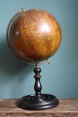 Vintage Antique 10 Inch Terrestrial Globe by Geographia Dated 1920's