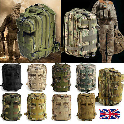 Military Tactical Army Rucksacks Molle Backpack Camping Hiking Trekking Bag New