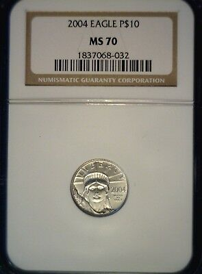 2004 $10 Platinum Eagle NGC PF70 Special (Planchet Anomaly)