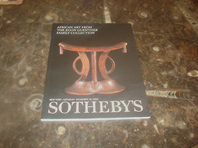 Auktionskatalog Sotheby`s African Art, Egon Guenther Collection 18.11.2000