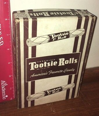 Vintage Tootsie Roll Chocolate candy box  1 cent Hoboken New Jersey Penny Candy