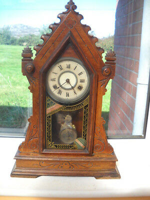 American Steeple Clock By Jerome & Co In G.w.o. But Needs T.l.c.
