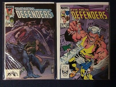 The Defenders # 125 and 126 Marvel Comics VF-NM 1983