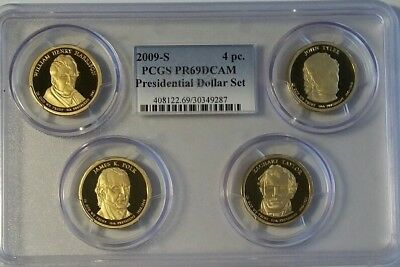 2009S 4pc President Dollar Set PCGS PR69DCAM