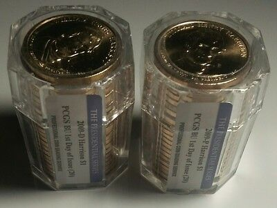 2009 P& D Harrison Presidential Dolar Rolls of 20 each PCGS BU Ist Day of Issue