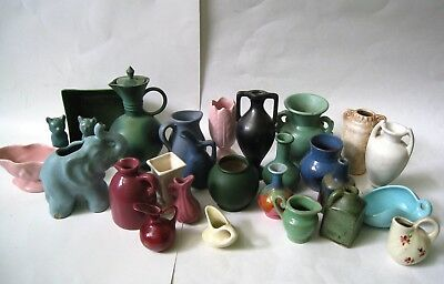 LOT of 27 Vintage Miniature VASES JUGS Figurines Some Signed ALL FOR One