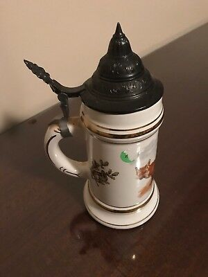 Beer Stein STEEPLE SPECIAL GERMANY Mug WHITE CERAMIC NEW