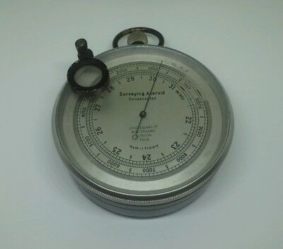 Superb Surveying Aneroid Barometer & Magnifier By J H Steward 406 Strand London