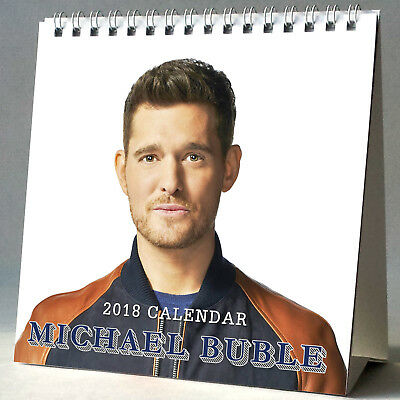 Michael Buble Desktop Calendar 2018 NEW + FREE GIFT 3 Stickers Christmas