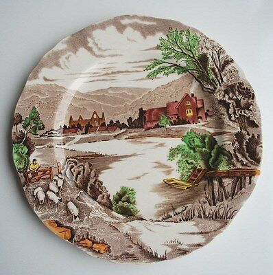 "ALFRED MEAKIN HAND PAINTED ""TINTERN"" PLATE. 9"" Dia. GOOD CONDITION"