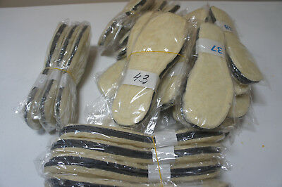 """Winter insoles with thermal """"Felt + fur"""" Wool 100% . Made in Europe. 1 Pare."""