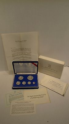 1978 British Virgin Islands Silver Proof Set PS8 The Royal Coronation Jubilee