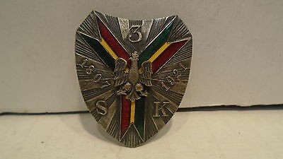 Polish Cavalry Badge 3.S.K. 1807-1921 3rd Cavalry Regiment World War 1 WWI
