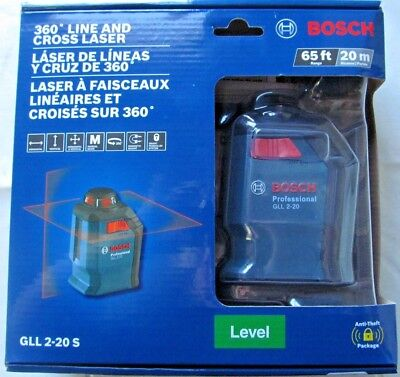 NEW BOSCH 360 Degree Line And Cross Laser GLL 2-20 S