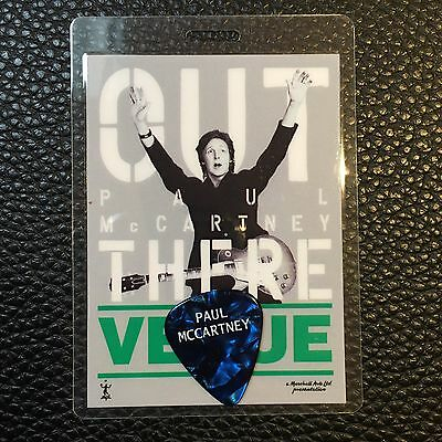 PAUL McCARTNEY  - 2013 OUT THERE TOUR GUITAR PICK & BACKSTAGE PASS - RARE!
